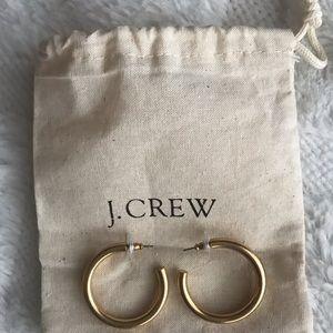 J. Crew Gold Hoop Earrings